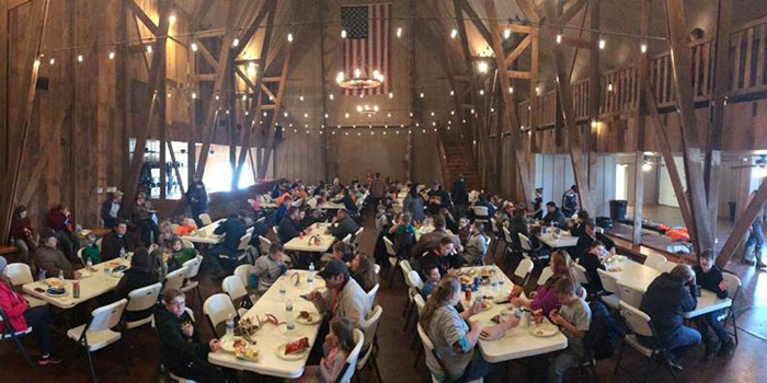 Barn Dinner at the The West Central Illinois Branch Quality Deer Management Association (QDMA).